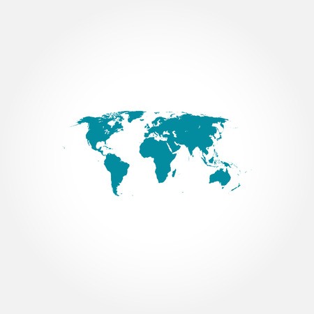 Detailed world map icon Vector