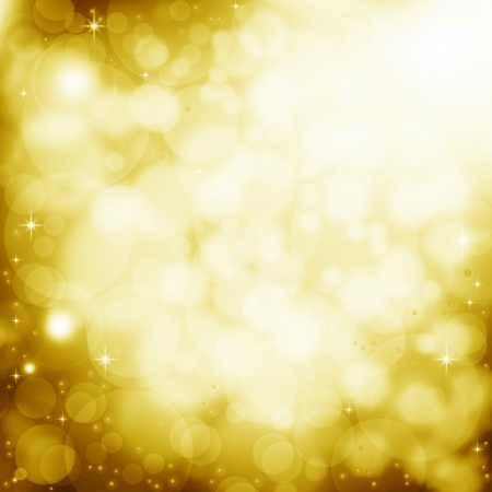 Abstract golden background with lens flare effect