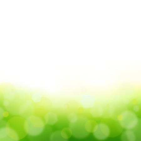 plain background: White and green bokeh abstract background Stock Photo