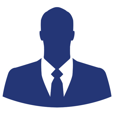 Blue businessman avatar profile picture Vector