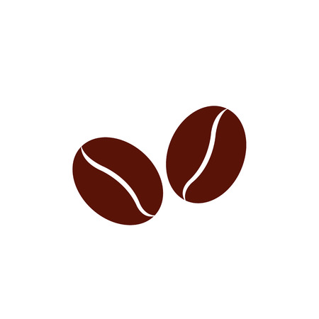 Coffee beans on white background Banco de Imagens - 25251036