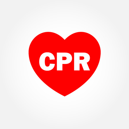 Heart icon with CPR sign Vector