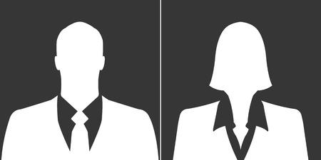 ビジネスマンやビジネスウーマンのアバターのプロフィールの写真のセット