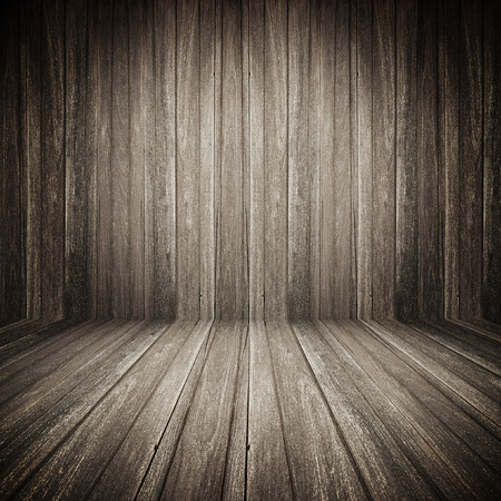 grooved: Dark brown wooden room background Stock Photo