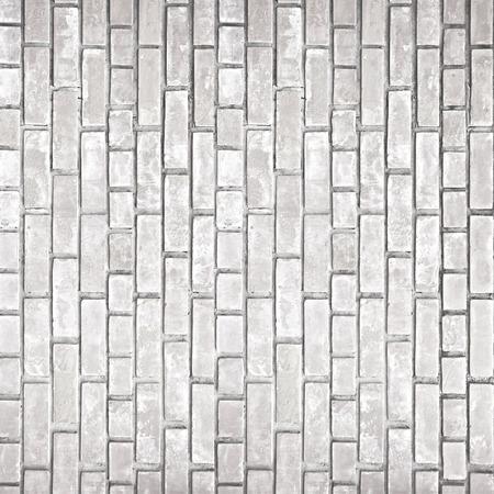 paredes de ladrillos: Blanco gris textura de la pared de ladrillo antiguo como fondo
