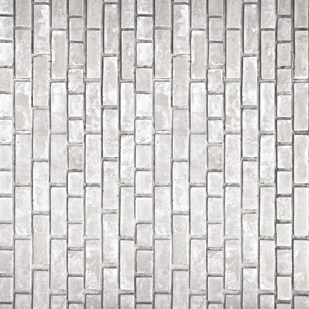 grooves: Old white gray brick wall texture as background