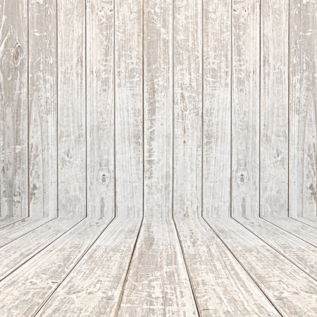 white wood floor: Old scratched wooden room background Stock Photo