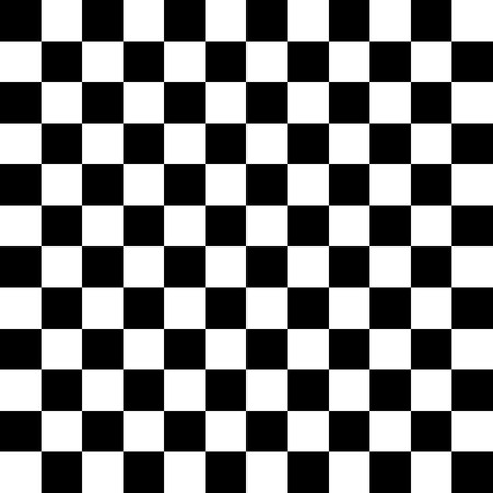 checkerboard backdrop: Simple black and white checkered abtract background Illustration