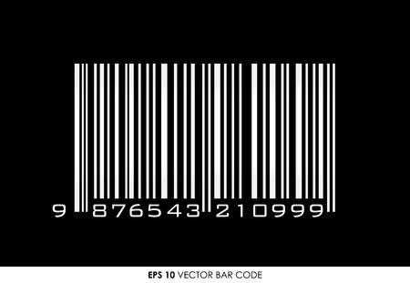 ean: EAN-13 barcode on black background Illustration