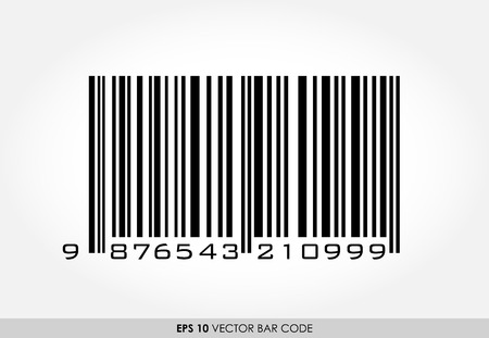 EAN-13 barcode on white background Vector