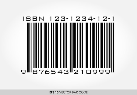 ISBN barcode for books on white background Vector