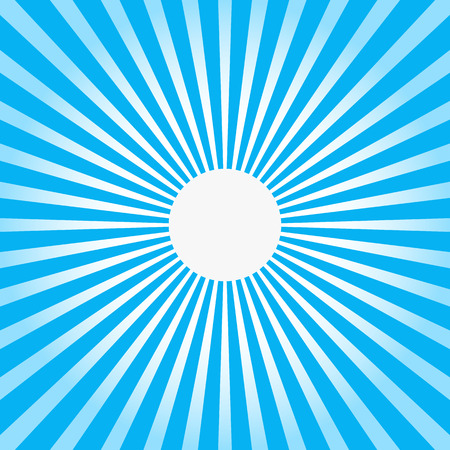 Colorful blue ray sunburst style abstract background Vector