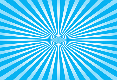 soft center: Colorful blue ray sunburst style abstract background