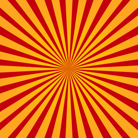 soft center: Colorful yellow and red ray sunburst style abstract background Illustration