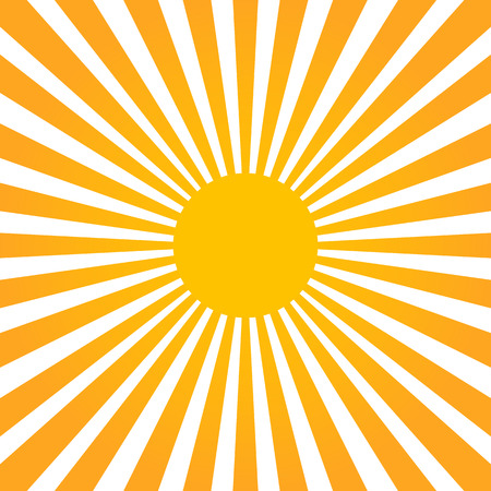Colorful yellow and orange ray sunburst style abstract background Vector