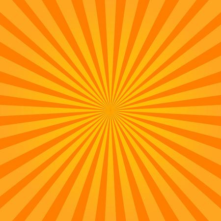 Colorful orange sunburst style abstract background