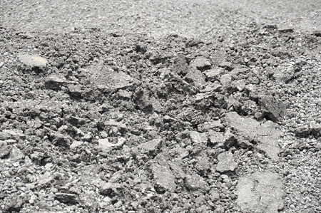 Crushed gravel with asphalt photo
