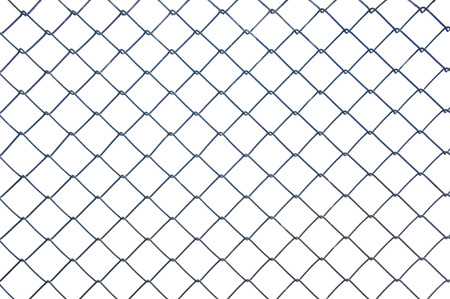 prison fence: Chainlink metal wire fence Stock Photo