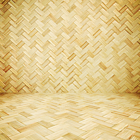 straw mat: Wicker texture room as background Stock Photo