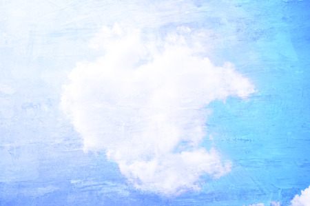 Retro style picture of sunny blue sky and clouds photo
