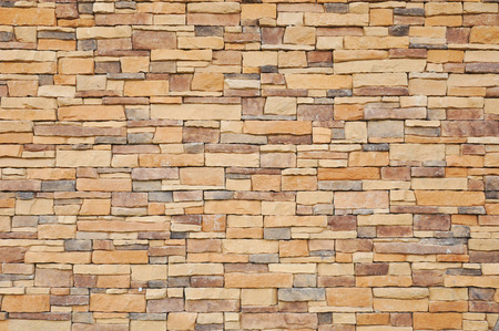 overlapped: Stone brick wall texture as background