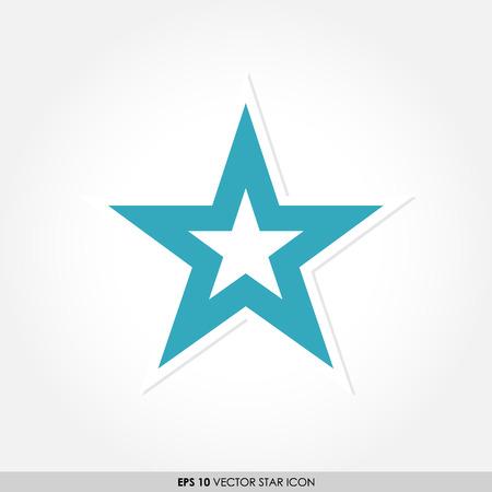 estrella azul: Icono del vector de la estrella azul Vectores