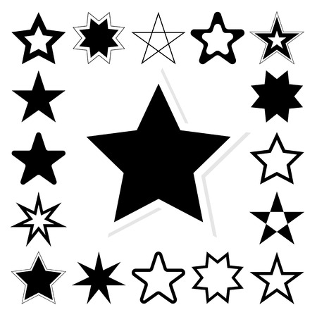 asterisk: Star vector icon set