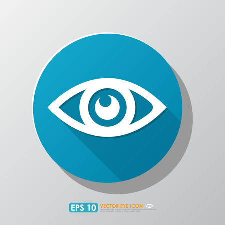 keen: Eye icon with shadow in blue circle