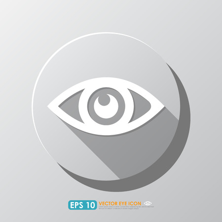 keen: White eye icon with shadow in circle