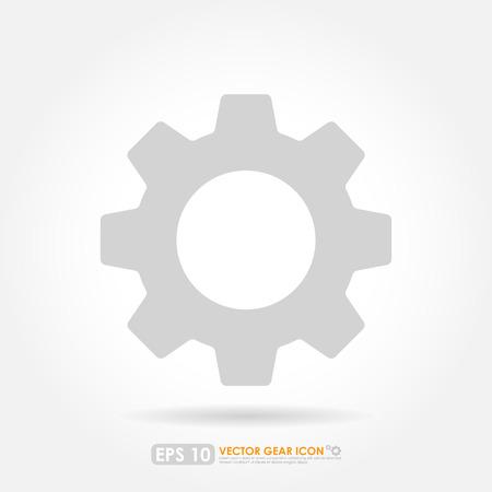 lite: Gear or cog icon - lite version Stock Photo