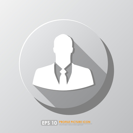 Businessman icon in circle with shadow photo