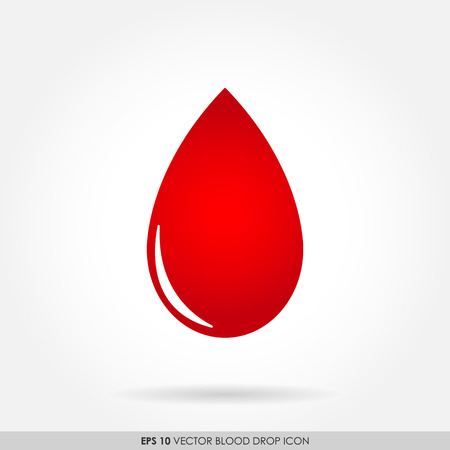 blood drop: Red blood drop icon Stock Photo