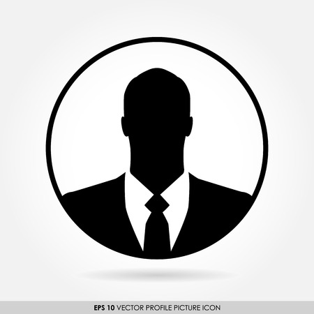 businessman icon in circle photo