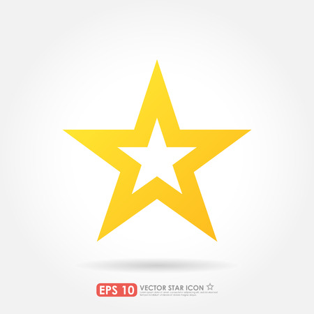 favorite: Yellow star icon as favorite sign