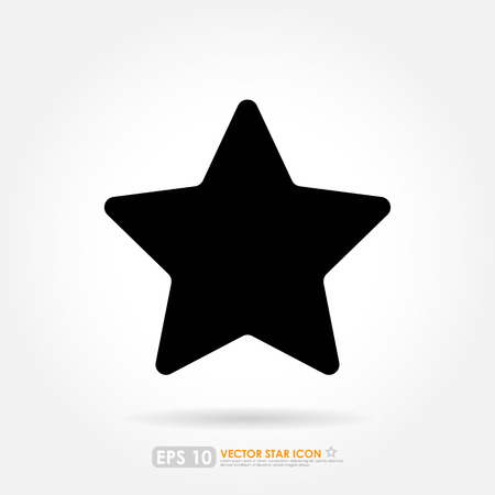 star rating: Black star icon - isolated