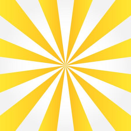 Yellow & white sunburst style abstract background