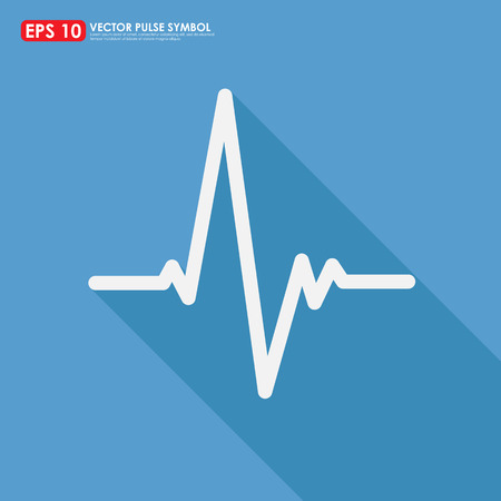 heart ecg trace: Electrocardiogram, ecg or ekg - medical icon Illustration