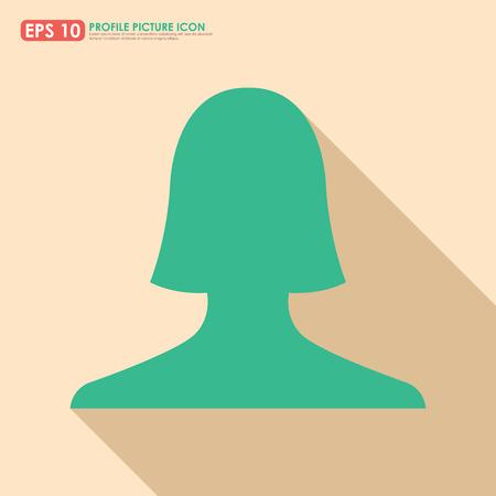 Female avatar profile picture icon - vintage colors Vector