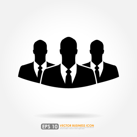 Three businessman icon - teamwork, relationship & HR concept Vector