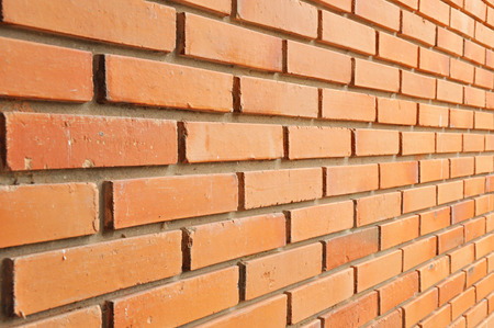 Brick wall texture background - side view photo