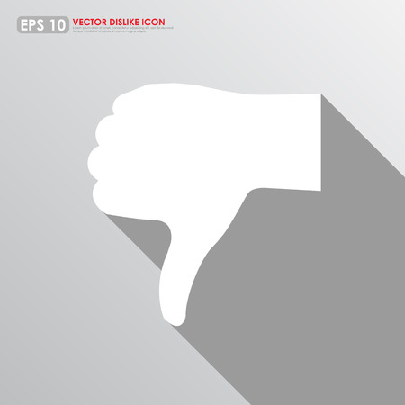 unacceptable: Thumbs down icon on gray background - bad & dislike concept