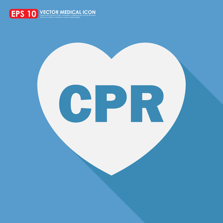 cpr: CPR sign in heart shape  Stock Photo