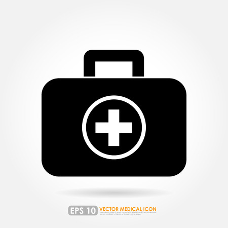 first aid box: First aid or medical kit icon