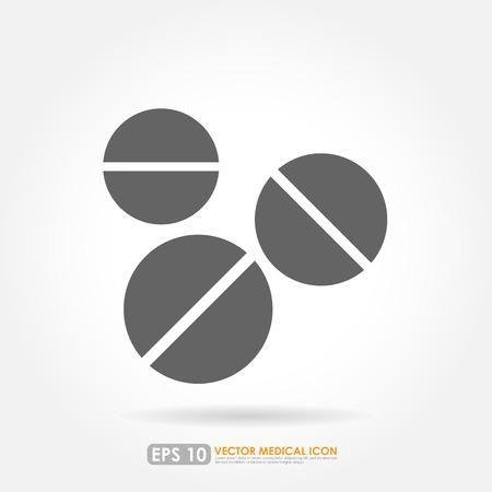 pilule: Tablet o píldora - icono de la medicina