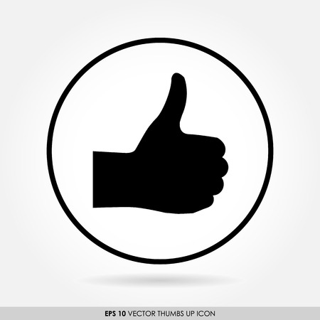 okay sign: Thumbs up icon in circle - can be used as button & web icon - like & favourite concept Stock Photo