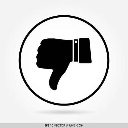 disapprove: Thumbs down sign in circle - vector icon - bad & dislike concept