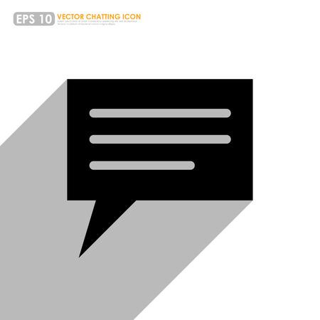 komentář: Černé řeči nebo komentovat bublina na bílém pozadí
