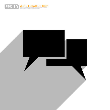 Black speech or comment bubbles on white background Vector
