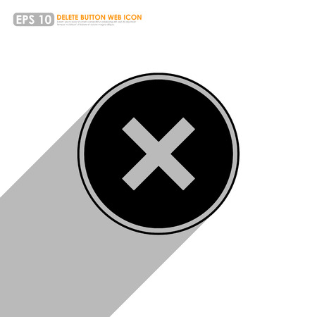 Cross sign in circle on white background Vector