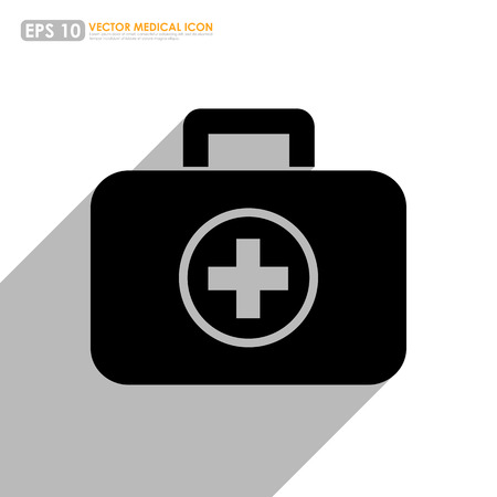 kit design: first aid or medical kit icon on white background